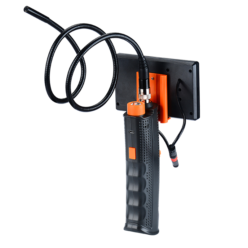 XSC 6 Adjustable LED Lights 4.3 Inches Waterproof Display Screen Handheld Endoscope with Screen Inspection Camera 8.5mm