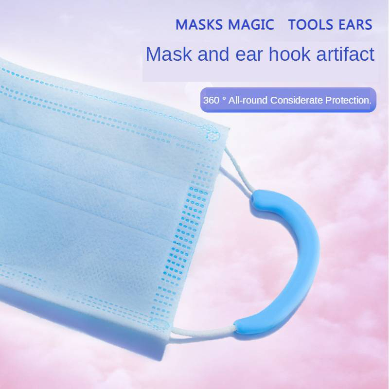 Portable Anti Pain Elastic Soft Silicone Earmuffs Protector Mask Rope Cover Soft Protective Ears Mask Band
