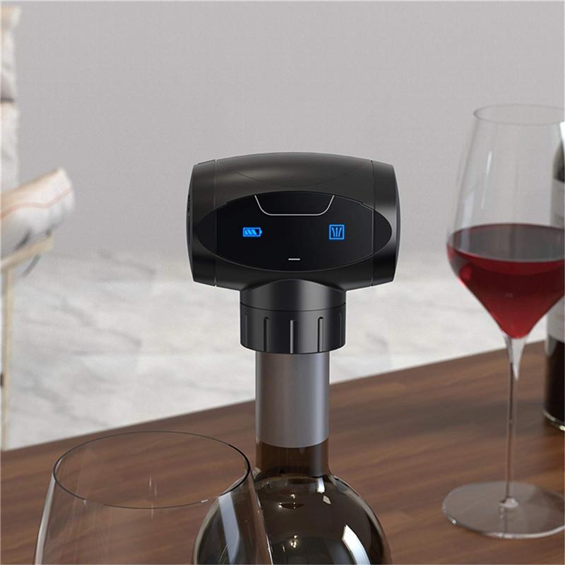 Smart Storage Battery Reminder Reusable Automatic Electric Vacuum Wine Bottle Stopper