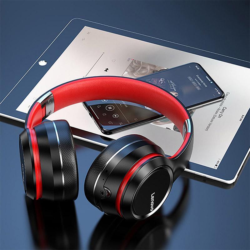 Lenovo HD200 Bluetooth Noise Cancellation HIFI Stereo Over-ear Foldable Wireless Headphones