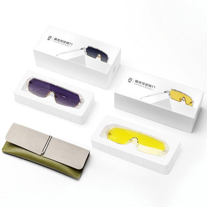 Qukan T1 Transparent Color-changing Anti-UV Block Glare Unisex HD Polarized Sunglasses Driving Lens