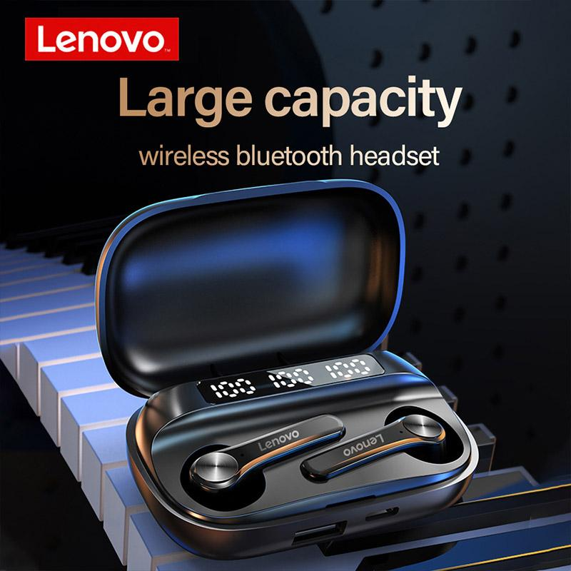 Lenovo QT81 True Wireless Stereo Waterproof Bluetooth Earbuds Headphones with Microphone