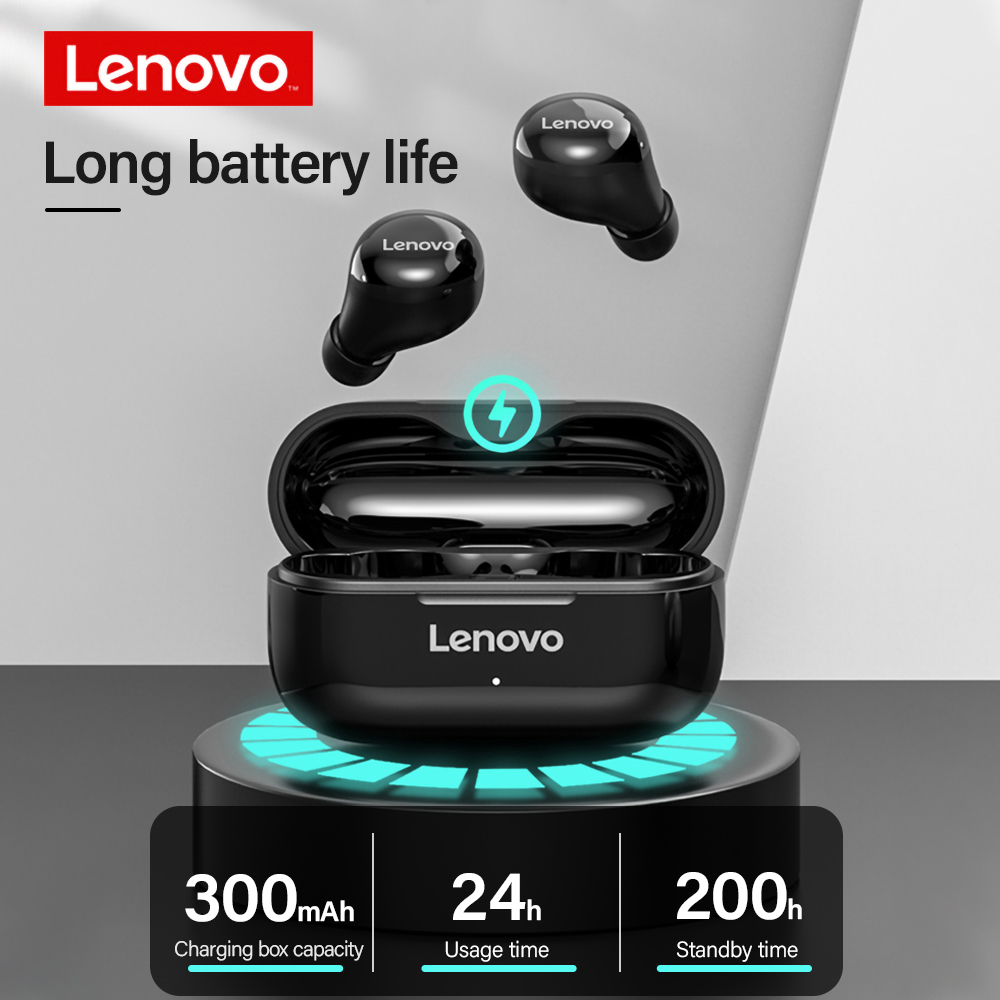 Lenovo LP11 Noise Reduction 300mAh In-Ear Sports Earbuds True Wireless Stereo Earphones with Charging Case