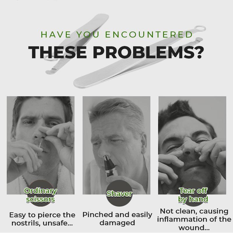 Geeklifetime®Universal Stainless Steel Nose Hair Trimming Tweezers
