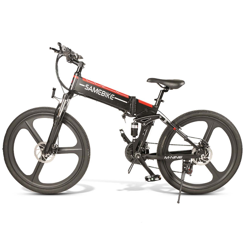 SAMEBIKE LO26 Folding Electric Bike 26 Inch Tires 350W Motor 10.4Ah Battery Max 35 KPH Ship from Poland Warehouse