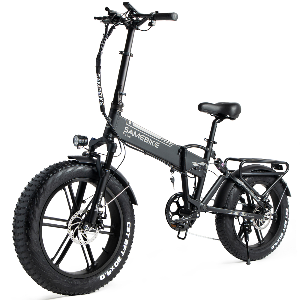 SAMEBIKE XWLX09 500W 20 Inch Folding Electric Moped Bike Three Riding Modes Electric Bicycle Ship from Poland Warehouse