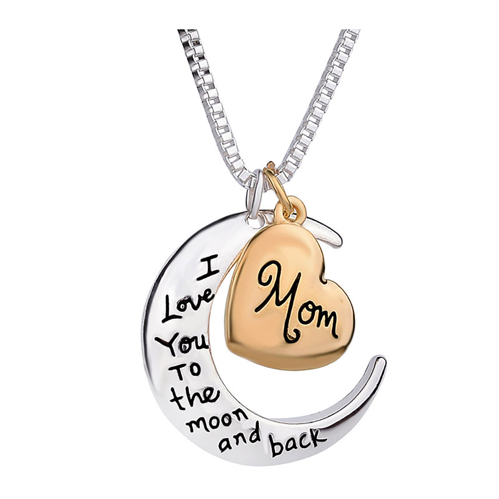 Love Necklace Gift Moon and Back Jewelry